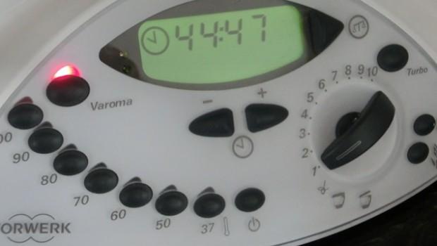 Programamos el vapor durante 45 minutos.